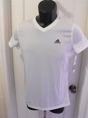 "10/12 Able New/dirty Adidas Logo ""climalite"" Shirt Youth M Medium 33vr"