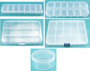 Schmuckherstellung LiebenswüRdig 1 Sortierkasten Perlenbox Variable Trenner Sortierbox 7 12 15 Fächer Dosen Boxen Attraktive Mode