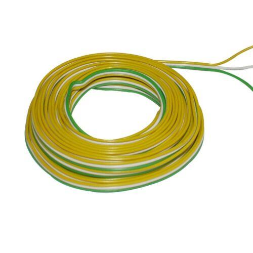 Ring 5m Kupferlitze 3 x 0,14mm² isoliert Kabel Trix gelb//weiss//grün 860296