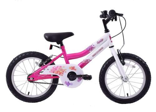"""Professional Sparkle 16/"""" Wheel Girls Mountain Bike Single Speed Pink//White Age5+"""