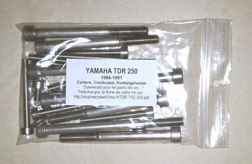 YAMAHA TDR 250 1988-1991 Komplettmotor Inbus Rostfrei Schraubensatz TDR250