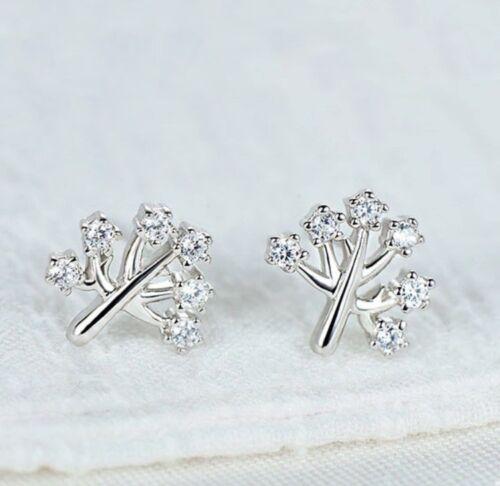 925 Sterling plata pendientes señora aretes árbol vida símbolo filigrana de plata