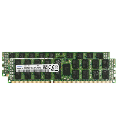 64GB 2x32GB PC3-12800R DDR3-1600 ECC Registered RDIMM For Supermicro X9DRi-LN4F+