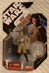 Hasbro-STAR-WARS-2007-Expanded-Universe-Anakin-Skywalker-W-Collector-Coin