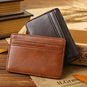 Mens-Slim-Classic-Front-Pocket-Wallet-Genuine-Leather-Credit-Card-ID-Holder-Gift
