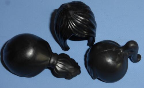 PLAYMOBIL Cheveux/Perruques-Mixed Styles/Noir Figure Féminine de Remplacement NEUF (a)