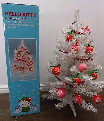 Hello Kitty Christmas Tree.Hello Kitty Tinsel Christmas Tree Set Kurt Adler 23 Ebay