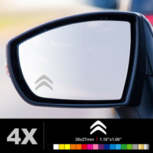 CITROEN SYMBOL WING MIRROR ETCHED GLASS CAR VINYL DECALS STICKERS SILVER ETCH