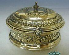 WMF Buch Brass Tea Caddy Ethrog Sugar Box Warsaw Poland Circa 1900