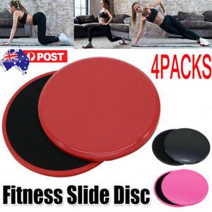4x Gliding Sliding Discs Core Sliders Gym Yoga Fitness Exercise Workout Training
