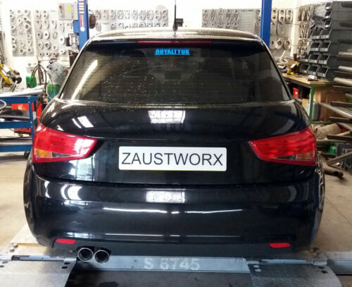 "Rear silencer delete pipe 8X Twin 3/"" tail pipe A Audi A1 1.4TFSi"