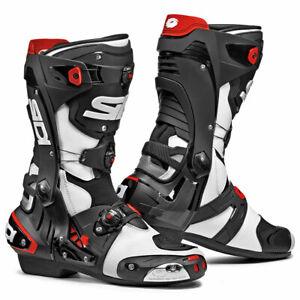 Sidi-Rex-CE-Moto-Motorcycle-Bike-Boots-White-Black