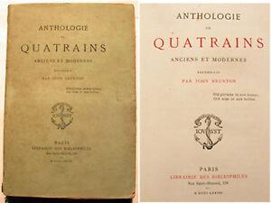 QUATRAINS-ANCIENS-ET-MODERNES-J-BRUNTON-1877-RARE