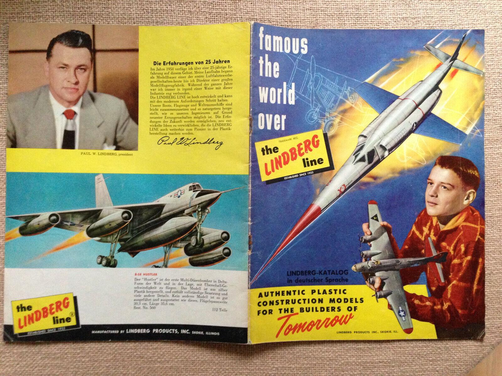 Lindberg-Katalog  1958  superselten ca 90 Modelle mit Preisliste superrarietät  | Lass unsere Waren in die Welt gehen  aeda6c