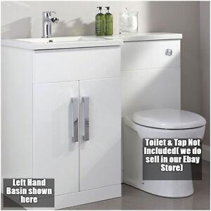 Bathroom Vanity Unit Designer Furniture Suite Back To Wall Wc Toilet