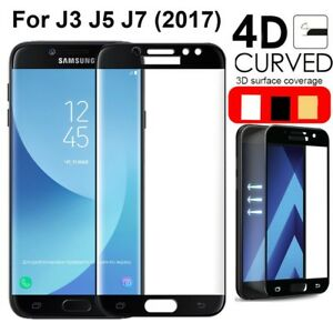 Details about 4D FULL COVER Tempered Glass Screen Protector for Samsung  Galaxy J3/J5/J7 2017
