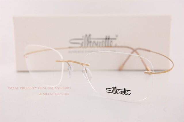 ac191cdc0d New Silhouette Eyeglass Frames TMA Must Collection 5515 CR 7530 Gold Titan  54