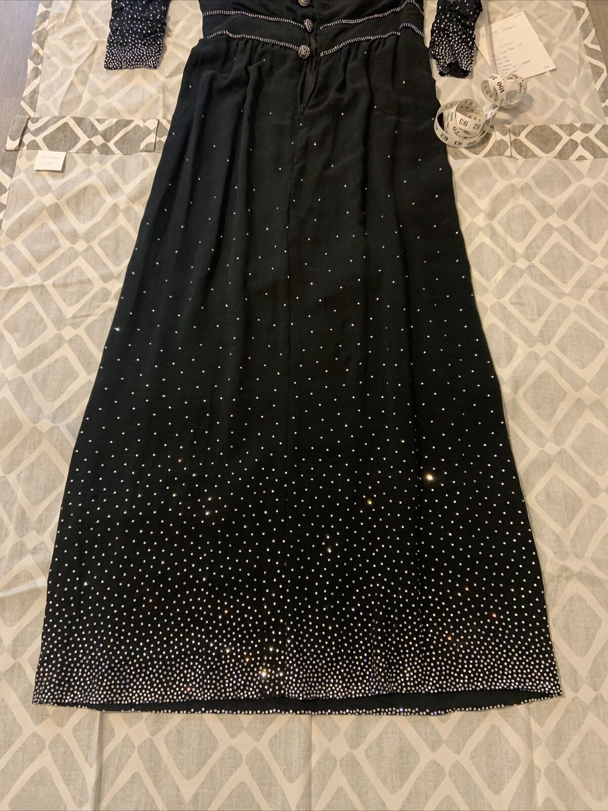 Arnold Scaasi Womens Vintage Couture Black Silk C… - image 7