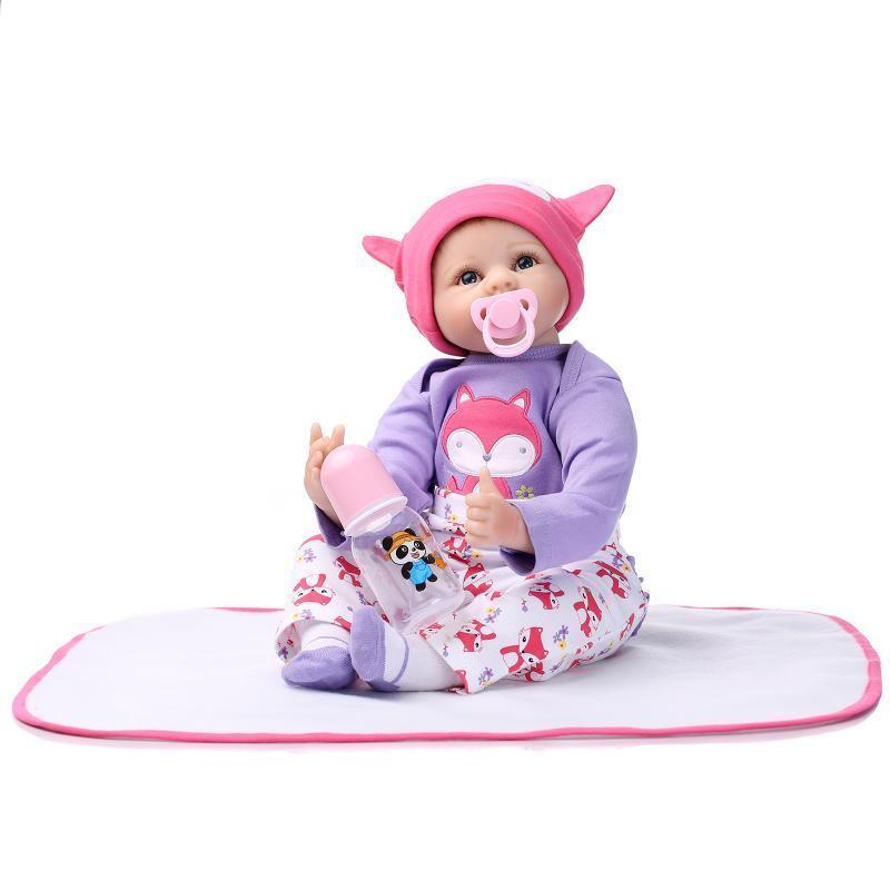 22  recién nacido realista Reborn Bebé niñas Muñeca De Juguete Regalos Niño Vinilo Suave Silicona