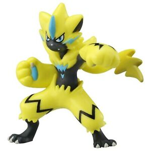 "ZERAORA Pokémon MONCOLLE MS-09 2/"" Figure TOMY Japan New on Card"