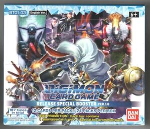 Digimon Card Game Ver 1.0 Booster Box - New Factory Sealed Bandai + Promos
