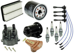 For Toyota Paseo Ignition Tune Up Kit Filters Cap Rotor Spark Plugs Wire Set