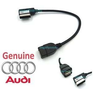 Genuine-Audi-AMI-Musica-De-Plomo-Cable-De-Ipod-MP3-Memory-Stick-A-Usb-4F0051510AB