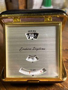 Vintage Endura DIGITIME Clock  Case Made In Japan Works ASPHALT KARNAK PRODUCTS
