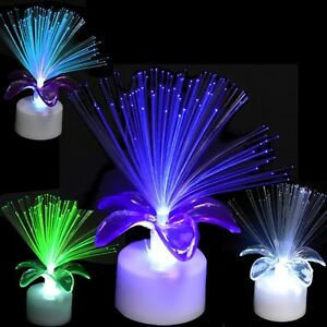 Image Is Loading Light Up Flashing Flower Fiber Optic Party Table