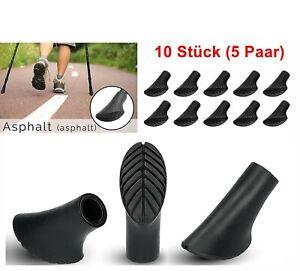 10 Stück Walking Asphaltpads Gummipuffer Ersatzfüße für Nordic Walking Stöcke