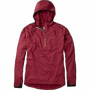 Madison Zenith men's long sleeve hooded top, blood red small red