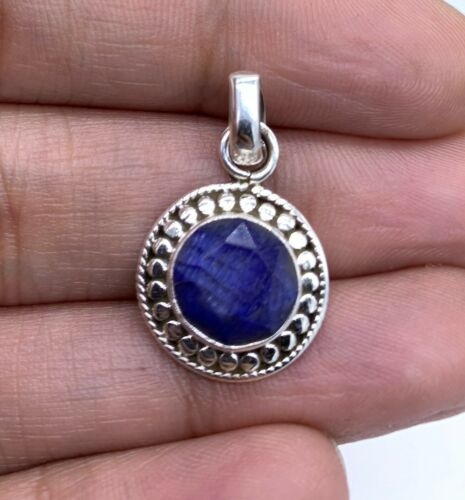 Designer 925 Sterling silver Ladies Pendant Sapphire Ruby Emerald Necklace Gift