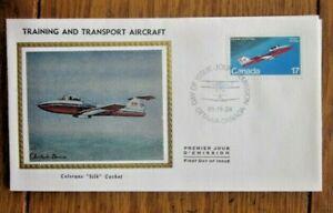 CANADA  AIRCRAFT CANADAIR CL-41 TUTOR 1981 COLORANO SILK CACHET FDC VF UNADDR