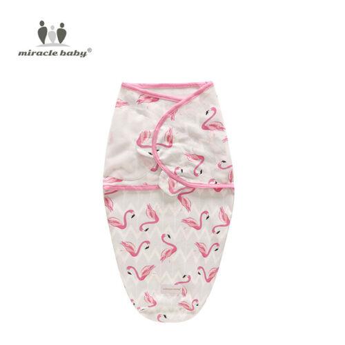 Baumwolle Baby Ganzkörper Pucktuch Wickeltuch Schlafsack Swaddleme 0-3-6 Monate