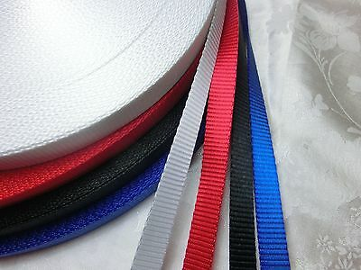 1/2'' (12.5mm) -Nylon Webbing, Mid weight -Fine and close