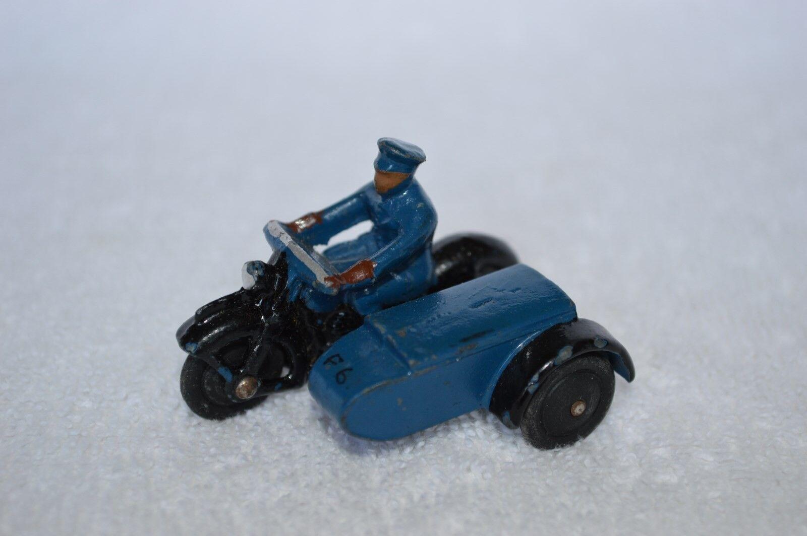 DINKY TOYS 43 B 43B MOTOR WITH SIDECAR RAC RAC RAC blueE NEAR MINT RARE SELTEN RARO   0e3c42