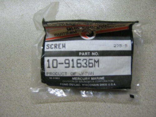 Mercury Quicksilver 10-91636M Screw