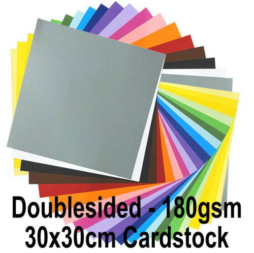 """New 12/""""x12/"""" Doublesided 180gsm Cardstock Paper Scrapbooking Card Making Cards"""
