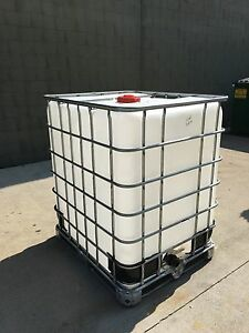330 Gallon Schutz Ibc Tote Water Liquid Storage Wvo Fuel Oil Ebay