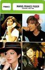 Actress Card. Fiche Cinéma Actrice. Marie-France Pisier (France) 1980-1998