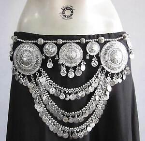 Spectacle Bouchon Tribal Fusion Belly Dance Jupe Costume Pièce Ceinture Kuchi Gypsy Boho-afficher Le Titre D'origine