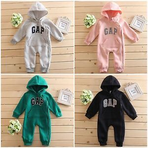 Kids-Baby-Boys-Girls-Warm-Infant-Romper-Jumpsuit-Bodysuit-Hooded-Clothes-Outfit