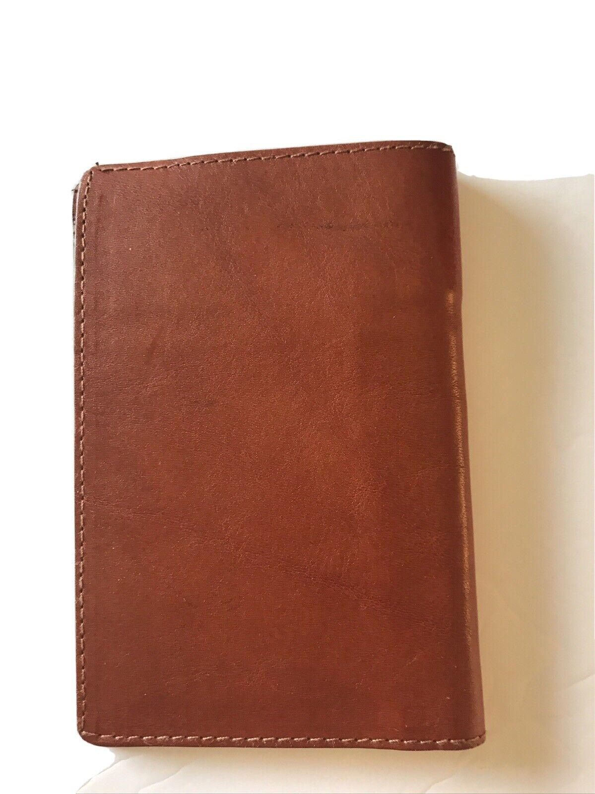 New cognac colored Vesuvius Leather Wallet