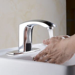 Details about Automatic Sensor Hands Free Touchless Bathroom Kitchen Faucet  Mixer Tap Lavatory