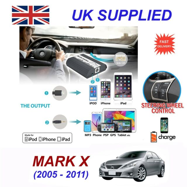 For Toyota Mark X iPhone 5 6 7 8 SE10 mp3 Aux Audio CD Changer Digital Module 6