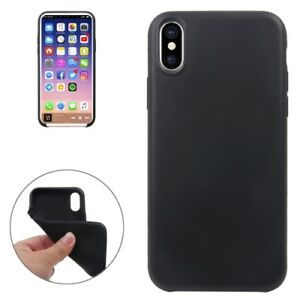 Housse-de-protection-en-silicone-Super-Slim-Sac-Housse-Case-Apple-iPhone-XS-Noir-Black