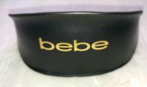 New-bebe-Folding-Sunglasses-Case-Black-And-Gold