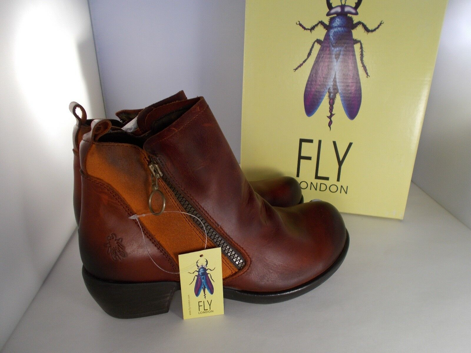 FLY London London London Meli Casual Ankle Boots Brick Rug Oil Suede Women's Size 9-9.5 US NIB 4e595e