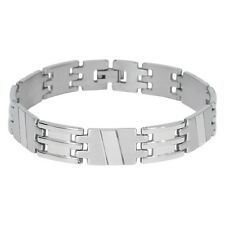 Stainless Steel Slant H Link Bracelet