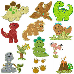 Dinosaurs machine applique embroidery patterns 12 designs ebay image is loading dinosaurs machine applique embroidery patterns 12 designs dt1010fo